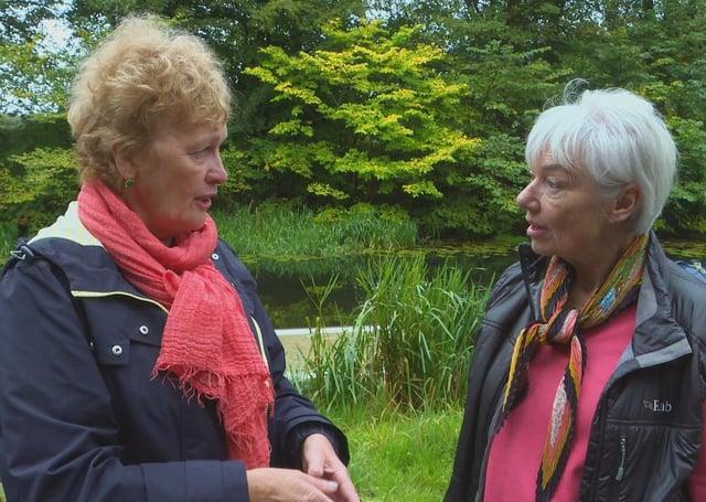 Rachel is pictured, left, with Heather Dewar