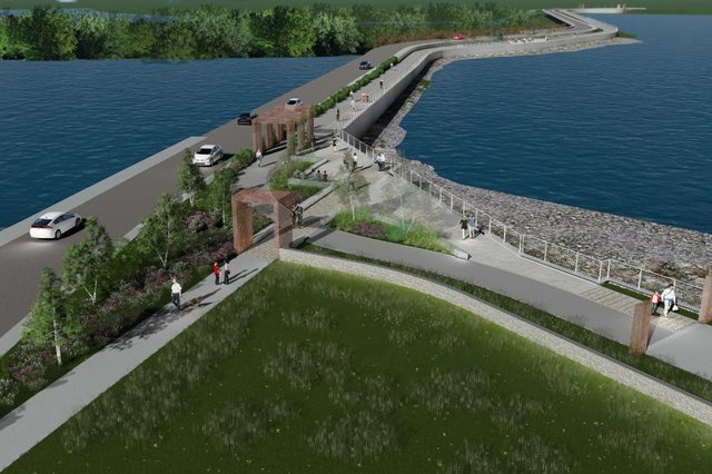 An artist's impression of how the new promenade will look