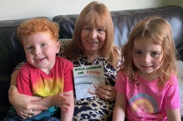 Cameron and Myla inspired their gran Margaret Kilgallon to write her latest book.