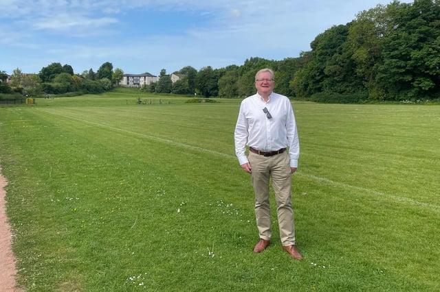 Jackson Carlaw at Crookfur Park