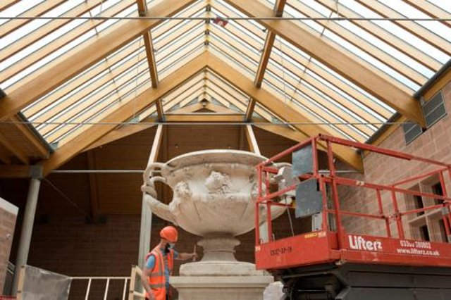 The Warwick Vase being cleaned. Copyright © CSG CIC Glasgow Museums and Libraries Collections